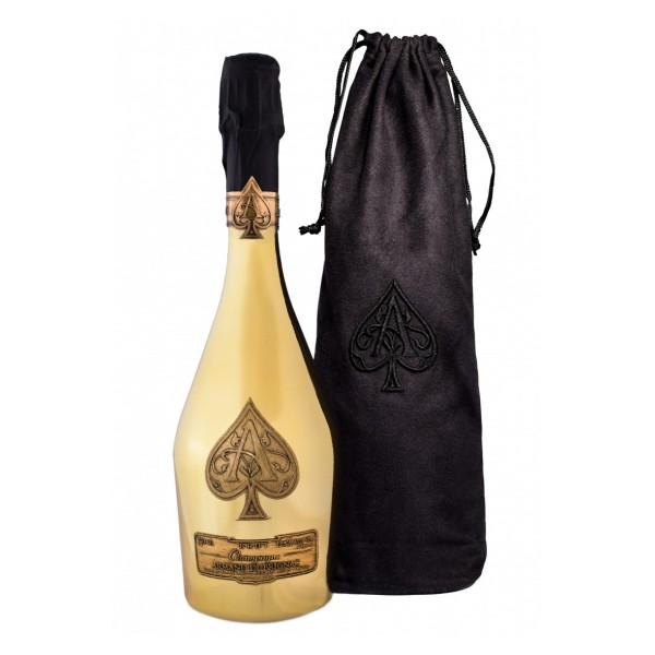 Armand de Brignac Gold with Black Velvet Pouch