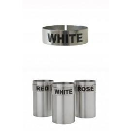 St/steel Large Thimble I.d. Clip - White (3151WHI)