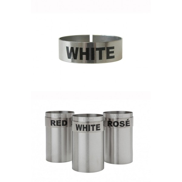 St/steel Large Thimble I.d. Clip - White