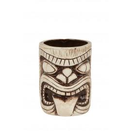 Ceramic Toscano Lono Tiki Mug 450ml - Light & Coffee Brown (3408)