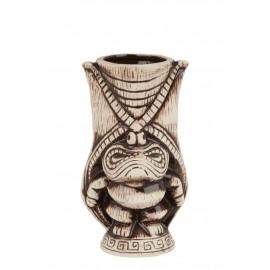 Ceramic Kane Tiki Mug 400ml - Light & Coffee Brown (3409)