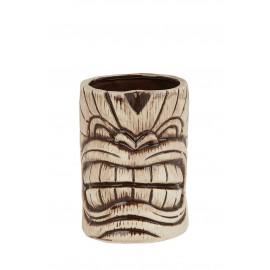 Ceramic Toscano Kanaloa Tiki Mug 450ml - Light/coffee Brown (3410)