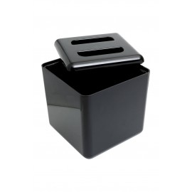 Insulated Square Ice Bucket Black 7pt (3501)