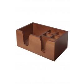 Wooden Bar Caddy - Walnut Effect (3542)
