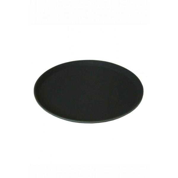Round Black  Non Slip Tray 11 Inch