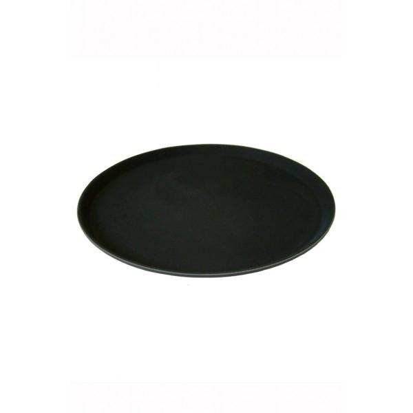 Round Black Non Slip Tray 14 Inch