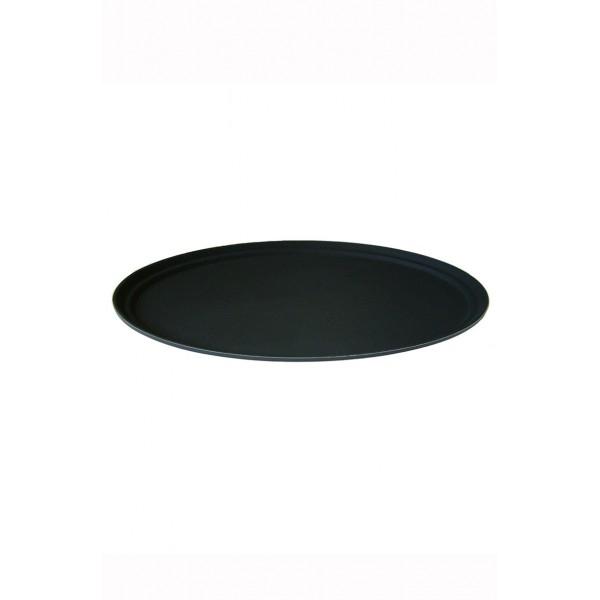 Oval Black Non Slip Tray 22x27 Inch