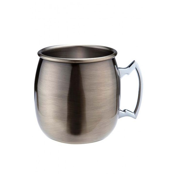 Antique Brass Plated Curved Moscow Mule Mug (3656)