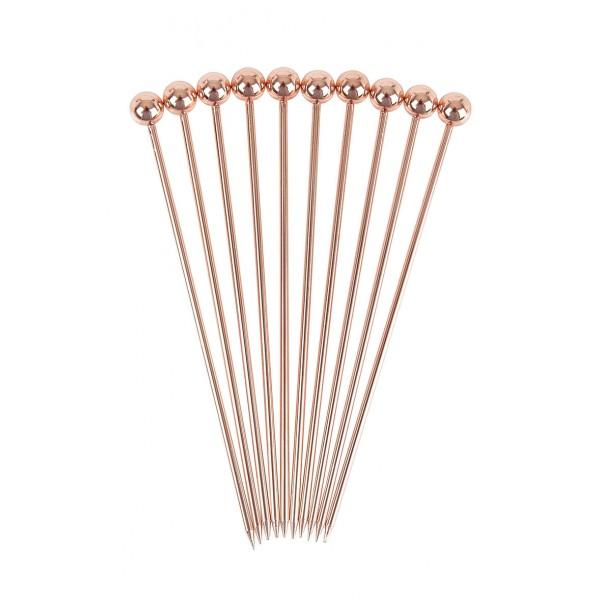 Ball Garnish Pick Copper Plated Pk10 (3731)