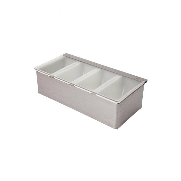 4 Part Stainless Steel Condiment Holder