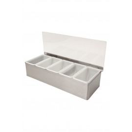 5 Part Stainless Steel Condiment Holder (3762)