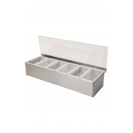 6 Part Stainless Steel Condiment Holder (3763)
