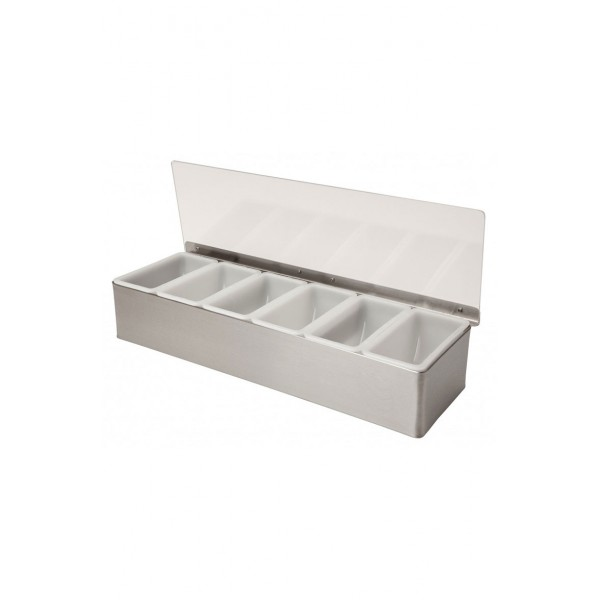 6 Part Stainless Steel Condiment Holder