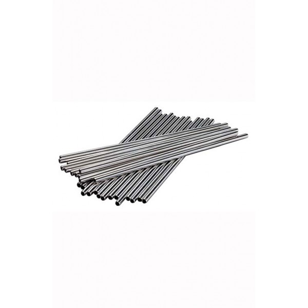 8.5 Inch St/steel Metal Straw Pk25