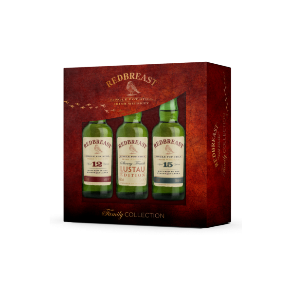 Redbreast Family Collection Gift Pack (3 X 5cl)