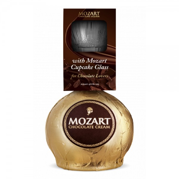 Mozart Gold Chocolate Liqueur & Glass Pack