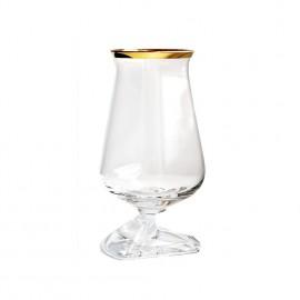 Túath Whiskey Glass Gold Rim with Box