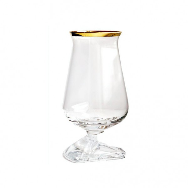 Túath Whiskey Glass Gold Rim with Box
