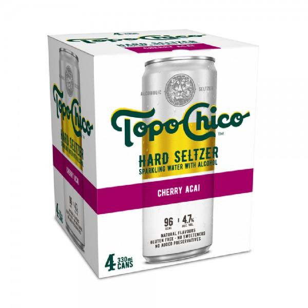 Topo Chico Cherry Acai 4 Pack