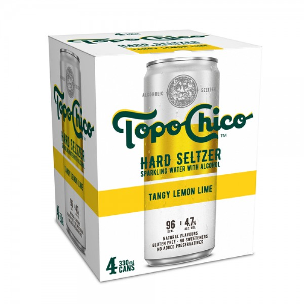 Topo Chico Tangy Lemon Lime 4 Pack