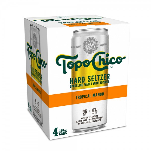 Topo Chico Tropical Mango 4 Pack