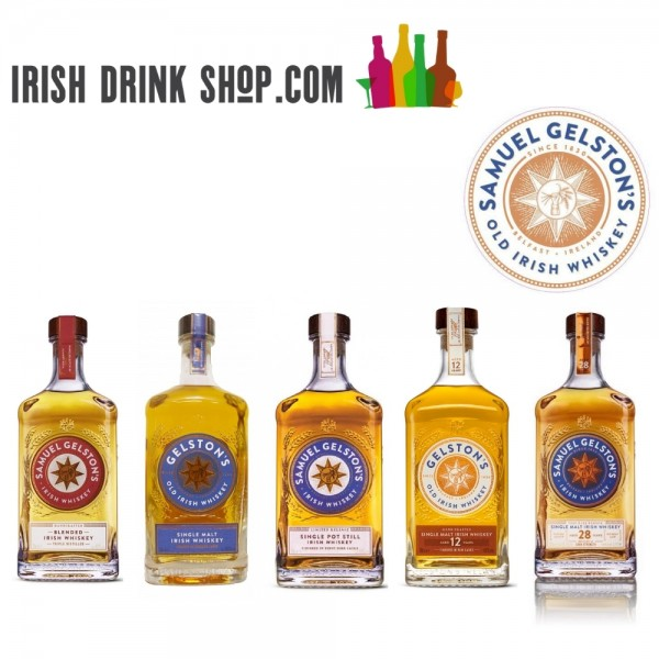 Gelstons Irish Whiskey Tasting Pack 18th March EU Based Customers Including Delivery