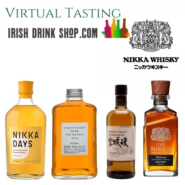 Nikka Japanese Whisky Tasting Pack 5th May Outside EU Based Customers Inc Delivery