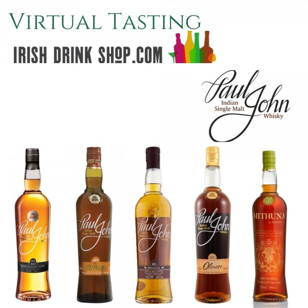 Paul John Indian Whisky Tasting Pack 30th June Including Delivery EU Based Customers